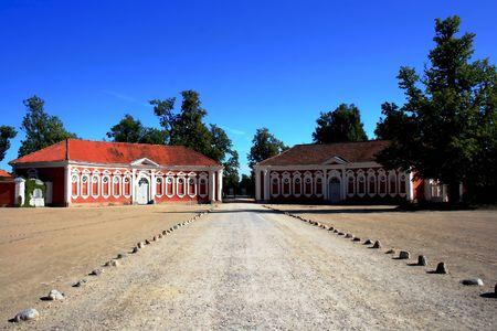 rundale: Rundale Palace � uno dei pi� insigni monumenti del Barocco e del Rococ� in Lettonia Archivio Fotografico