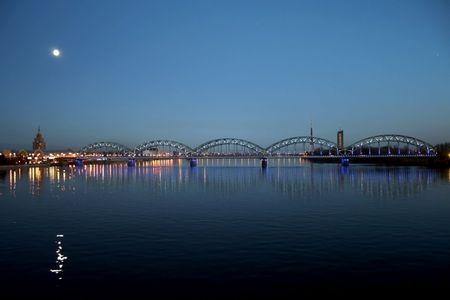 Night Riga photo
