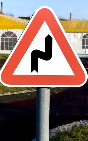 banning the symbol: A travelling sign is in childs educational small town