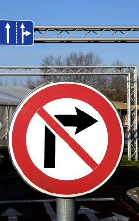 banning the symbol: A travelling signs is in childs educational small town