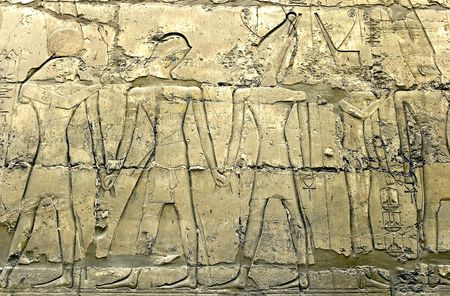 Wall in the Karnak Temple (Luxor, Egypt) photo