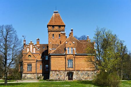 Jaunmoku Palace is the only fortified castle of the Order of Livonia that remains in Latvia It was built in 1901