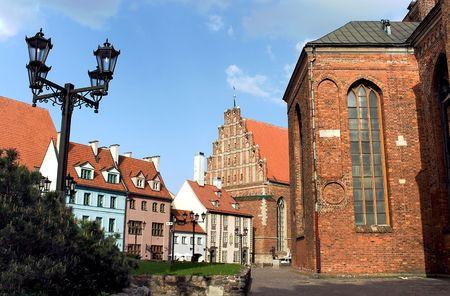 Riga old town architecture. Latvian city scenery.