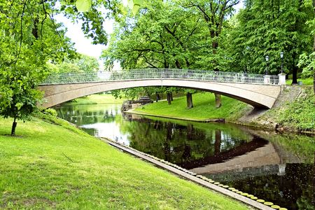 River channel  in Riga central city park, Latvia Stock Photo - 7106431