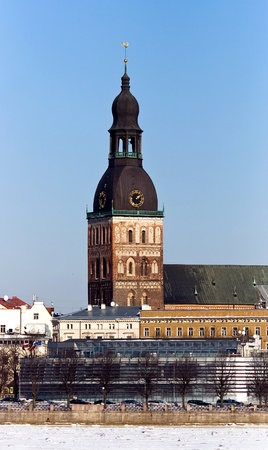 Lutherian Dome cathedral in the Old town of Riga, Latvia photo