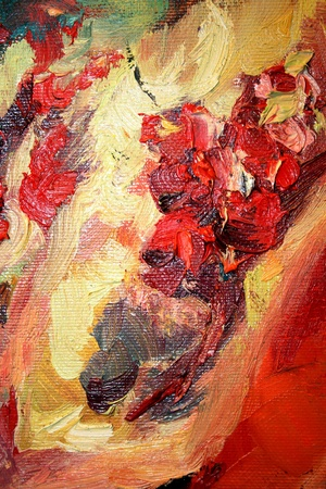 Abstract coloured oil paints close-up
