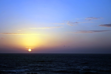 perfect waves: Sunset on the beach Mediterranean sea in Tel-Aviv