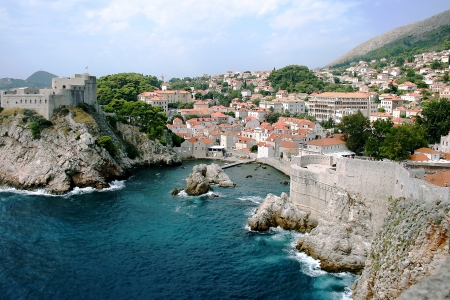 Dubrovnik Old City on the Adriatic Sea in Croatia, South Dalmatia region photo