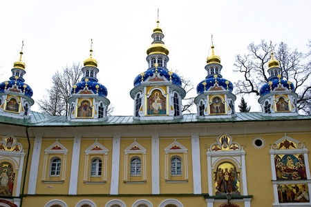 friaries: Saint-Assumption Pskovo-Pechersky monastery - one of the largest and rich in Russia friaries with centuries-old history
