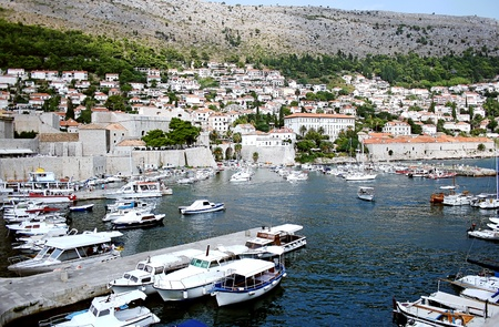 View of port and harbour  in Dubrovnik photo