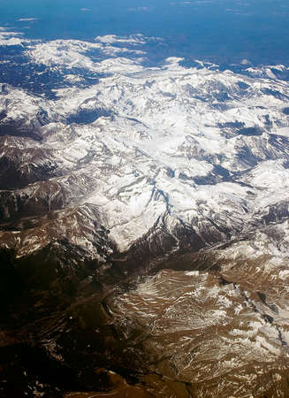 alpes: Large panoramic view is from above on French Alps