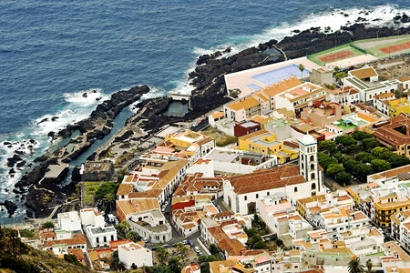 Small town Garachico ashore the Atlantic ocean Garachico is a municipality and town on the northern coast of Tenerife photo