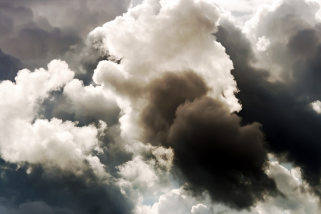 Cumulus clouds before the storm photo
