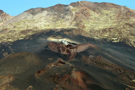 El Teide volcano on Tenerife Island Canary Islands, Spain is the highest volcano 3718 m of the Canarian archipelago photo