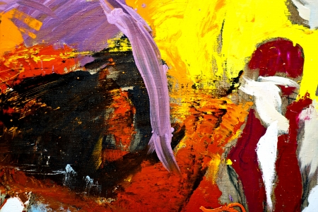 embody: Fragment of Oil abstract painting close-up