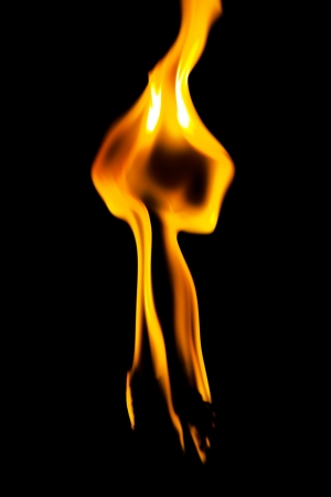 Flame of burning candle in dark tones close-up Stock Photo - 19841725