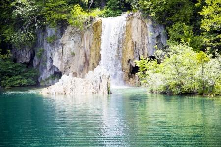 Mini waterfalls on Plitvice laiks, Croatia photo