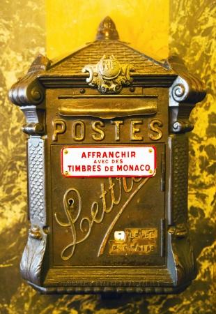 inwardly: Old metal mailbox inwardly Grand Casino Monte - Carlo, Monaco