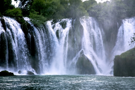 Famous Kravica waterfalls in Bosnia and Herzegovina photo