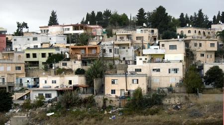 View on the dwelling Arabic quarter not far from Haifa, Israel Stock Photo - 23862640