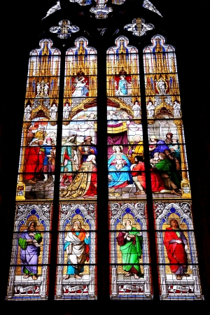 Stained-glass windows of Cologne cathedral, Germany