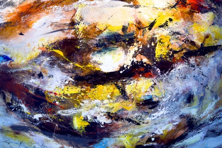 embody: Fragment of Oil abstract painting in dark tones Stock Photo