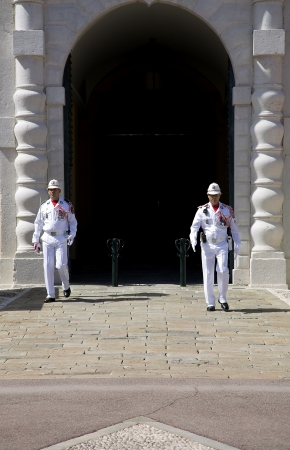prince s palace of monaco: Palace of Monaco is the official residence of the Prince of Monaco Daily ceremony of changing the guard of honor at the Prince s Palace Editorial