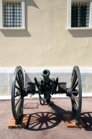 Old cannon at the Palace of Monaco in Monaco-Ville