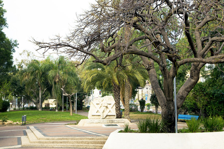 yam israel:  Monument to the warriors of Great Patriotic War in a beautiful park Bat-Yam, Israel