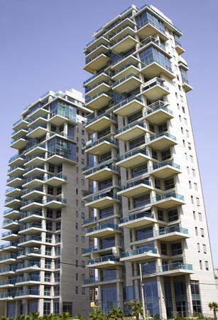 yam israel: Architecture modern buildings in Bat-Yam, Israel Editorial