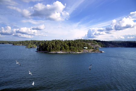 archipelago:  Island in the Stockholm archipelago in Baltic sea Stock Photo