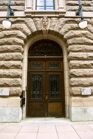 grates: Old doors in the Swedish Riksdag(parliament). The seat of the Riksdag is at Parliament House (Swedish: Riksdagshuset) Stock Photo