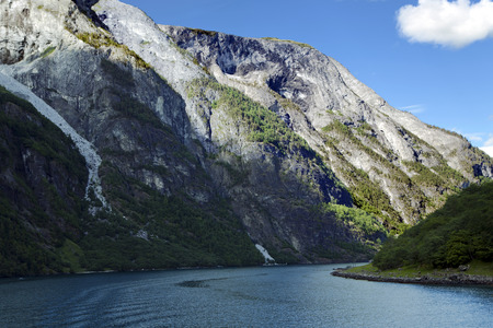 fjords: Wonderful landscape in Lysefjord, Norway. Lysefjord - one of Norways best-known fjords photographed from the water. Norwegian fjords are very scenic, its a pleasant to have a trip there. Stock Photo