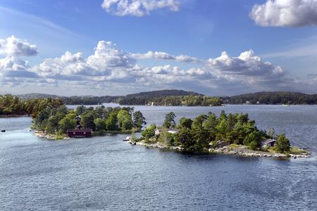 Landscape on Stockholm archipelago in Baltic sea