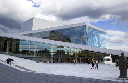 OSLO, NORWAY, JUNE, 25, 2014 - The Oslo Opera House (Norwegian: Operahuset) is the home of The Norwegian National Opera and Ballet, and the national opera theatre in Norway. Which was opened on April 12, 2008