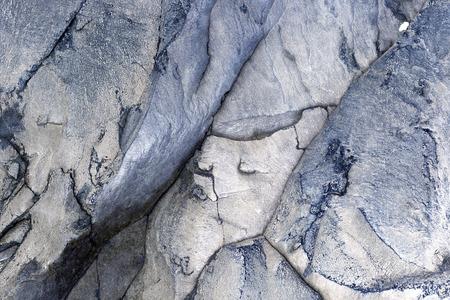 solidify: Hardening volcanic lava with an interesting texture near a Teide volcano, Tenerife, Spain