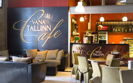 ESTONIA, TALLINN, JUNE, 21, 2014 - Comfortable interior of cafe Vana Tallinn in Tallinn, Estonia Redakční