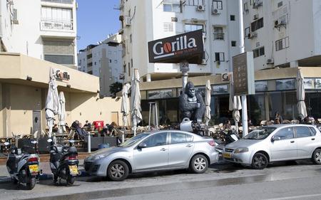 yam israel: ISRAEL BATYAM MARCH 21 2014  Day traffic on the streets in BatYam Israel