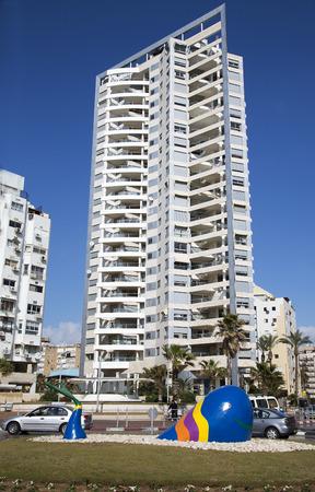 newest: ISRAEL BAT YAM MARCH 23 2014: Modern multistory newest architecture in Bat Yam Israel