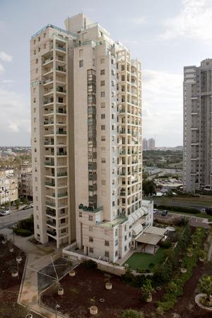 yam israel: ISRAEL BAT YAM MARCH 23 2014: Modern multistory newest architecture in Bat Yam Israel