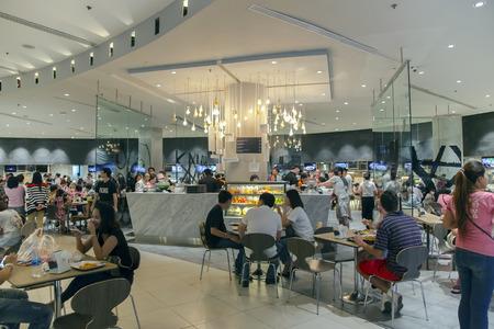 paragon: THAILAND, BANGKOK, MARCH, 15, 2015 - Food hall in the Siam Paragon is a shopping mall in Bangkok, Thailand.