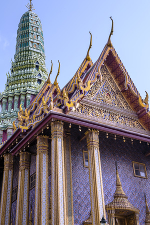 includes: Wat Phra Kaew, also known as the Temple of the Emerald Buddha, that also includes the former residence of the Thai monarch, Bangkok, Thailand. Editorial