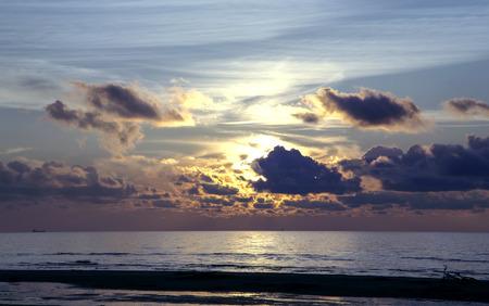 jurmala: Magic sunset above the Baltic sea, Jurmala, Latvia