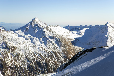 vistas: Swiss Alps: mountain of Taschhorn at height of 4491 meters, fantastic vistas of the Mischabel chains four-thousand metre peaks is the uncrowned queen of the Mischabel group. Switzerland.