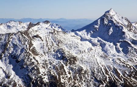metre: Swiss Alps: mountain of Taschhorn at height of 4491 meters, fantastic vistas of the Mischabel chains four-thousand metre peaks is the uncrowned queen of the Mischabel group. Switzerland.