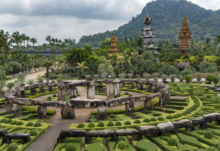 Landscape Of Tropical Park Of Nong Nooch - Botanical Garden And ...