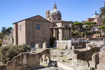 Ruins of ancient in Rome