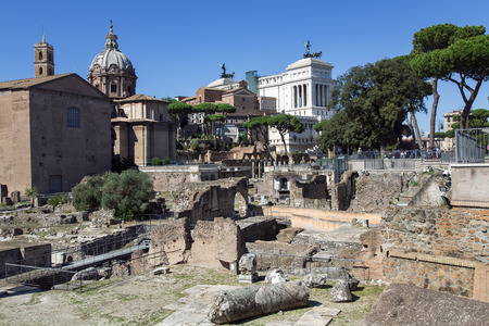 ITALY, ROME, OCTOBER, 28, 2014 - Ruins of ancient Rome
