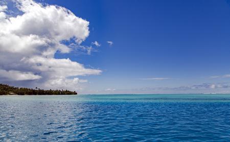 Blue Lagoon sous le vent de la Polynésie.