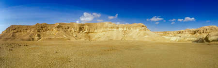 Panorama of the Negev desert in Israel Imagens